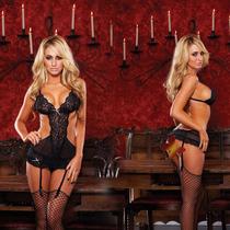 包邮 美国hustler高档情趣内衣诱惑紧身蕾丝性感网纱透明演出制服 价格:398.00