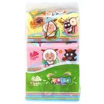 Vinda维达 喜洋洋抽取式面巾纸200抽*3/提 2层 价格:11.80