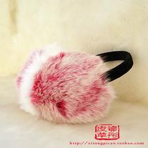 超大毛毛耳套皮草兔毛耳套兔毛耳套耳包耳捂耳罩男女包邮双色耳套 价格:49.28