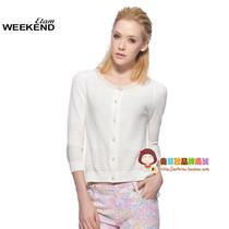 正品秋装新品 艾格 Weekend 秋季 拼接雪纺针织开衫130216059-86 价格:226.85