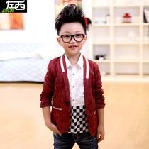 韩国童装男孩 秋装男童儿童西装外套2013新款 潮大童韩版西服ZY46 价格:88.00