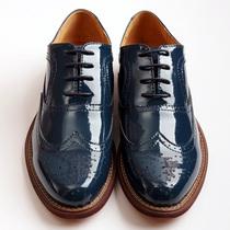 商务休闲 欧美布洛克鞋 复古英伦 雕花亮面漆光皮 真皮精品皮鞋男 价格:268.00