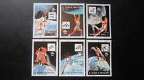 圣多美与普林西比 1992年 奥运邮票 6枚 价格:3.80