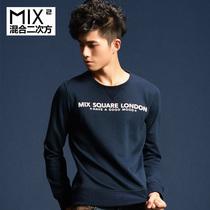 混合二次方 2013秋季新款男装 长袖T恤男潮 纯棉圆领T恤 L33T06D1 价格:89.00