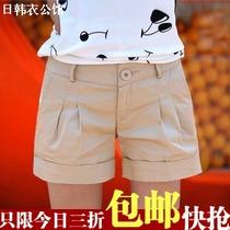 2013夏装 包邮 新款 韩版休闲 糖果色 工装 时尚热裤 短裤 女 夏 价格:13.90