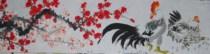 【大雅堂画廊】纯手绘/四尺开二公鸡图/国画/可题款/客厅画L23 价格:38.00