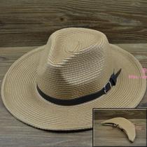 可折叠男士户外大草帽遮阳帽子夏天出游男帽大头围草帽礼帽韩版潮 价格:24.00