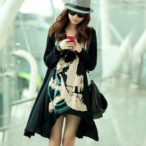 乔伊斯2013新品秋装女款大码宽松骷髅头长款修身长袖个性T恤k7935 价格:78.97