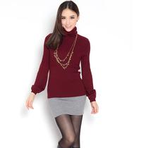 【淘宝清仓】女式修身百搭堆堆领羊绒衫 女式毛衣羊毛衫打底衫 价格:68.00