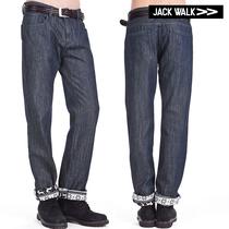 JACKWALK杰克沃克秋季新品休闲男装全棉复合面料雪花绒布牛仔裤 价格:239.00