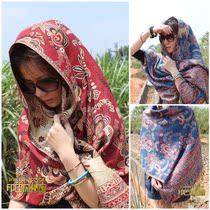 2013春夏印度尼泊尔进口民族风复古 遮阳金线超大披肩围巾两用 女 价格:34.00