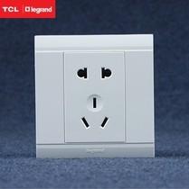 TCL开关插座正品/罗格朗插座面板二三插/美仑山系列五孔特价 价格:7.99