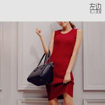 左边 2013秋冬新款 纯色针织无袖长款修身包臀 百搭针织连衣裙 价格:89.00