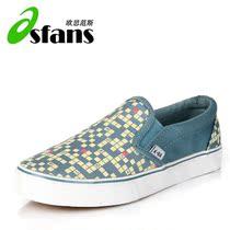 欧思范斯 帆布鞋 女 套脚 韩版 潮 一脚蹬懒人鞋 休闲鞋 价格:19.80