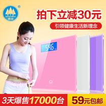 官方授权 香山电子称 精准体重计 电子秤人体秤健康秤EB699 包邮 价格:89.00