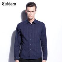 卡宾衬衫 男长袖纯棉韩版修身商务休闲衬衣 绅士雅族B/3123109007 价格:399.00
