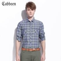 卡宾男装秋季新品 纯棉彩色格子男士修身长袖衬衫潮B/3121109074 价格:239.00