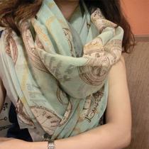 超长大围巾女春天韩版棉麻钟表款围巾空调披肩两用丝巾纱巾 价格:9.90