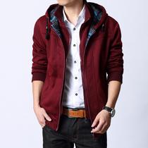 秋装杰克琼斯男装连帽开衫韩版修身假两件男士加大码卫衣加厚外套 价格:137.00