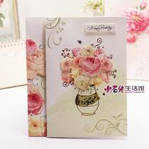 韩日文具意高档手工粘贴干花感恩节贺卡祝福卡片创意员工贺卡 价格:2.46