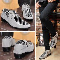 2013夏季男鞋子韩版男士休闲鞋英伦尖头皮鞋透气潮鞋内增高帆船鞋 价格:69.98