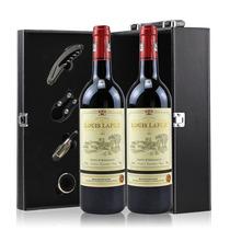 进口红酒法国原瓶路易拉菲干红葡萄酒12度750ml*2瓶红酒礼盒正品 价格:186.00