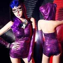 欧美夜店酒吧女ds领舞演出服装闪亮舞台表演服性感连体衣 价格:78.00