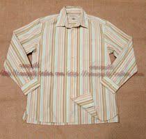 欧美外贸原单美国一线TommyBahama清新条纹纯棉天丝休闲男士衬衣 价格:98.00