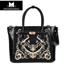 猫猫包袋2013新款包邮欧美复古刺绣花纹潮女包时尚单肩包手提包 价格:99.00