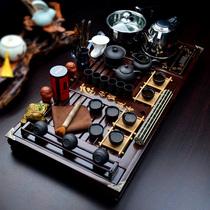 茶具套装包邮特价功夫整套茶具套装实木茶盘四合一电磁炉茶海茶道 价格:368.00