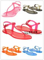 美国代购 Lacoste 鳄鱼2013 时尚女式夹脚果冻平底凉鞋 现货在途 价格:598.00