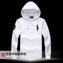 正品保罗男士套头卫衣 拉夫劳伦 保罗POLO大马纯棉连帽外套装白色 价格:148.00