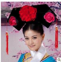 古代还珠格格旗头 宫廷宫女帽 清朝格格古装发卡 格格头饰 格格帽 价格:20.00