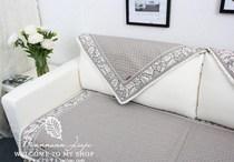 赛丽尔正品四季绗缝亚麻沙发垫坐垫防滑沙发套沙发巾春花秋叶 价格:49.00