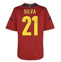 top thai quality spain 2012-13 home European Cup 21#SILVA 价格:78.00