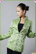特价爆 韵 绿野仙香花纹唐装上衣秋装长袖女装有中小码新增加大 价格:125.00