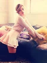 特!Lily Brown高领镂空竖条编织短款毛衣 价格:108.00