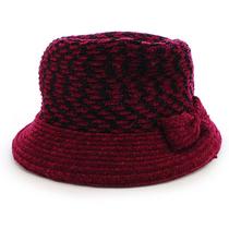 依吉饰 秋冬季老人帽女帽蝴蝶结女士帽子 超厚中老年人帽子毛线帽 价格:39.00