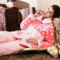 十大品牌 多拉美家居服 女士冬天珊瑚绒超柔夹棉睡衣套装CN42468 价格:270.64