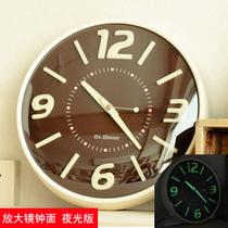 静音钟表 艺术挂钟 客厅时尚创意挂表 个性夜光时钟 大欧式石英钟 价格:99.00