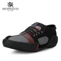 意大利富狼 2013夏季透气男鞋 英伦拼接时尚休闲鞋潮鞋 低帮单鞋 价格:79.00