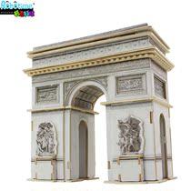 正版若态科技 木质3D立体拼图著名建筑模型巴黎凯旋门  木制拼图 价格:52.00