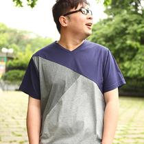 2013加大码男装短袖T恤,胖子服饰加肥加大特大码男士肥佬装夏装 价格:89.00