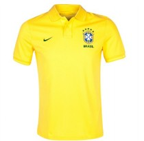 Top thai,Brazil national yellew polo,2013/14,China size 价格:70.00