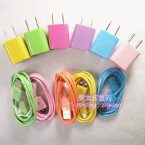 包邮彩色安卓小米三星HTC索爱 USB手机彩色手机充电器直充数据线 价格:13.00