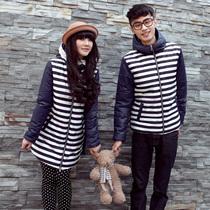 情侣装冬装 棉服外套2013冬季新款加厚棉衣外套 中长款男女装韩版 价格:165.00