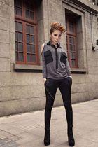 2013新款时尚宽松针织长袖T恤韩版明星女士们休闲T恤学生潮衣宝贝 价格:68.00