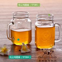 美国利比 玻璃杯 茶杯 咖啡杯 复古罐头杯 公鸡杯 马克杯水杯 价格:23.00