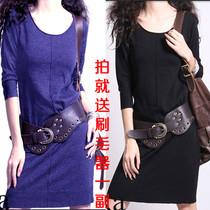 显瘦羊绒打底连衣裙 低领毛衣 长款大码针织衫 2012春秋女装韩版 价格:98.00