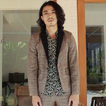 男装特区/ 窄领型时尚都市休闲毛呢布秋棉质日系复古 男装西服 价格:145.00